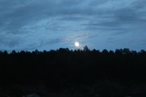 Full moon over the hilltop of my village