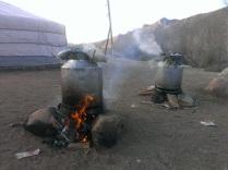 Pressure cooking...