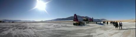 snowy runway panorama