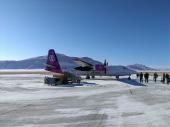 snowy runway