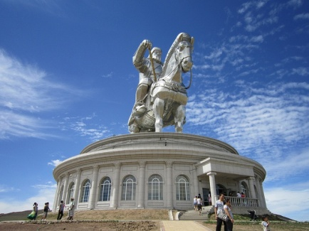Large Chingis Statue