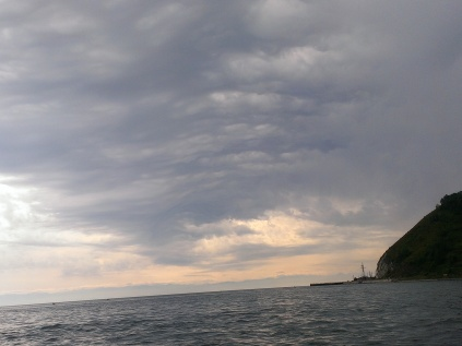 lake baikal from a boat